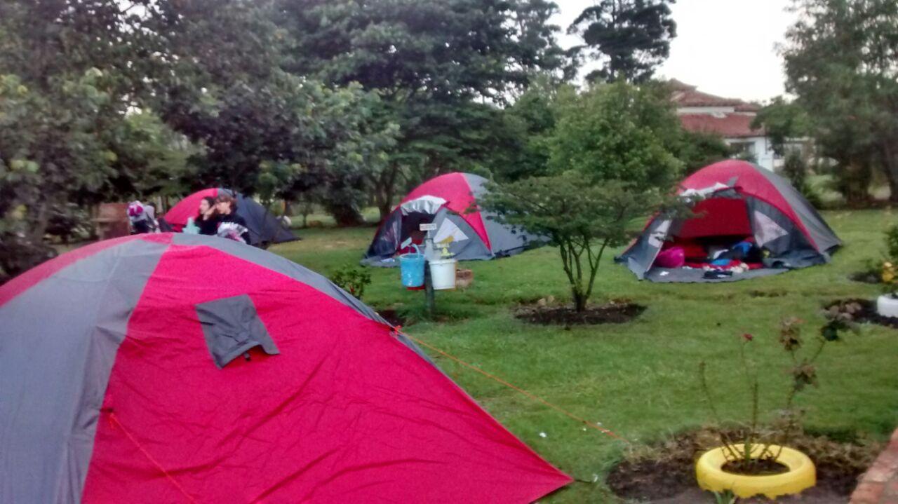 Zona de campamento en Villa de Leyva